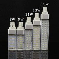 Lampada E27 G24 G23 7W 9W 11W 13W 15W 110V 220V 240V lámpara de enchufe horizontal SMD2835 Bombillas LED PL bombilla de maíz iluminación de la luz del punto