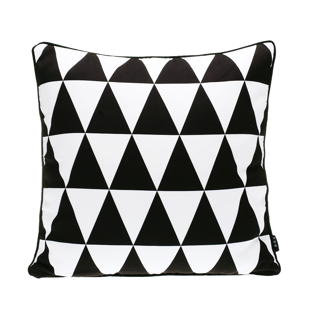online get cheap modern couch pillows aliexpresscom  alibaba group - triangle cushion coverblack and white cushion home decorgeometricdecorative throw pillows