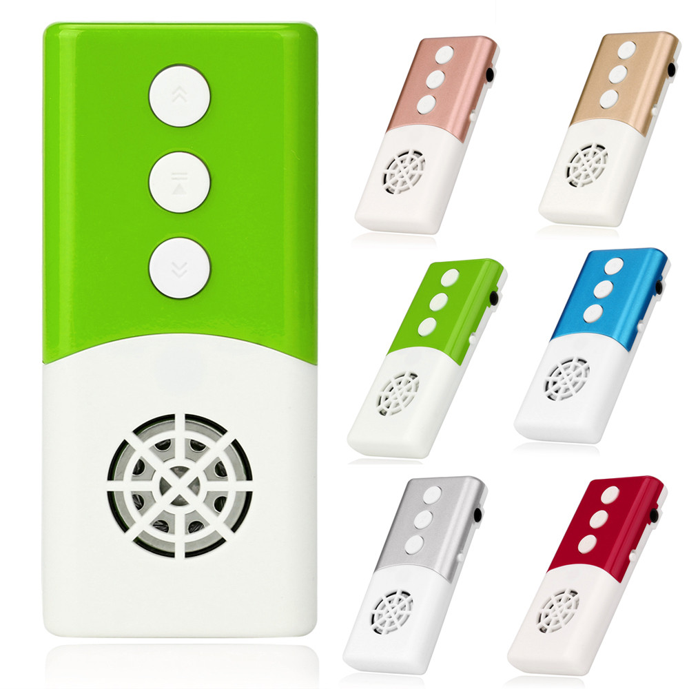Overmal 3.5mm Mini Fashion Design USB MP3 Music Media Player Light  Support 16GB Micro SD TF Card With Speaker Music Equalizer