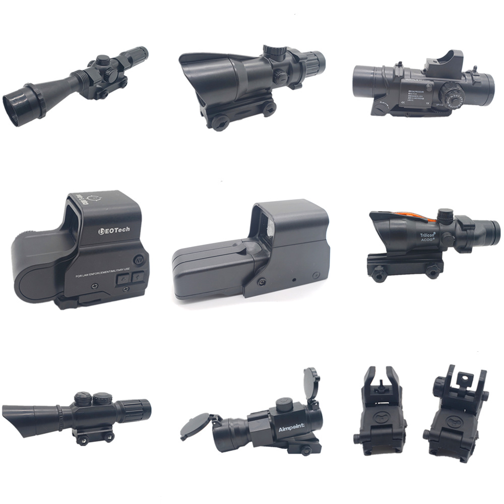 Holographic  Red Dot Aim Point Sight Scope Scalable Sighting Telescope For Water Gel Beads Blaster Modification Black Parts