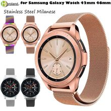 new 20mm 22mm Stainless Steel Band for Samsung Galaxy Watch 42mm 46mm Gear Sport S2/S4 S3 Frontier Milanese Wristband Magnetic