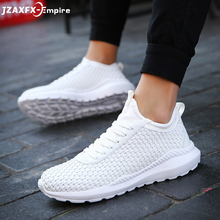 купить 2018 New Breathable Light Shoes Men Casual Weaving Design Solid Shoes chaussure homme male Fashion Sneakers по цене 1184.74 рублей