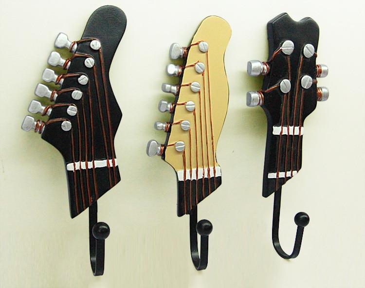 Cute Coat Hooks aliexpress : buy modern guitar series resin metal wall door