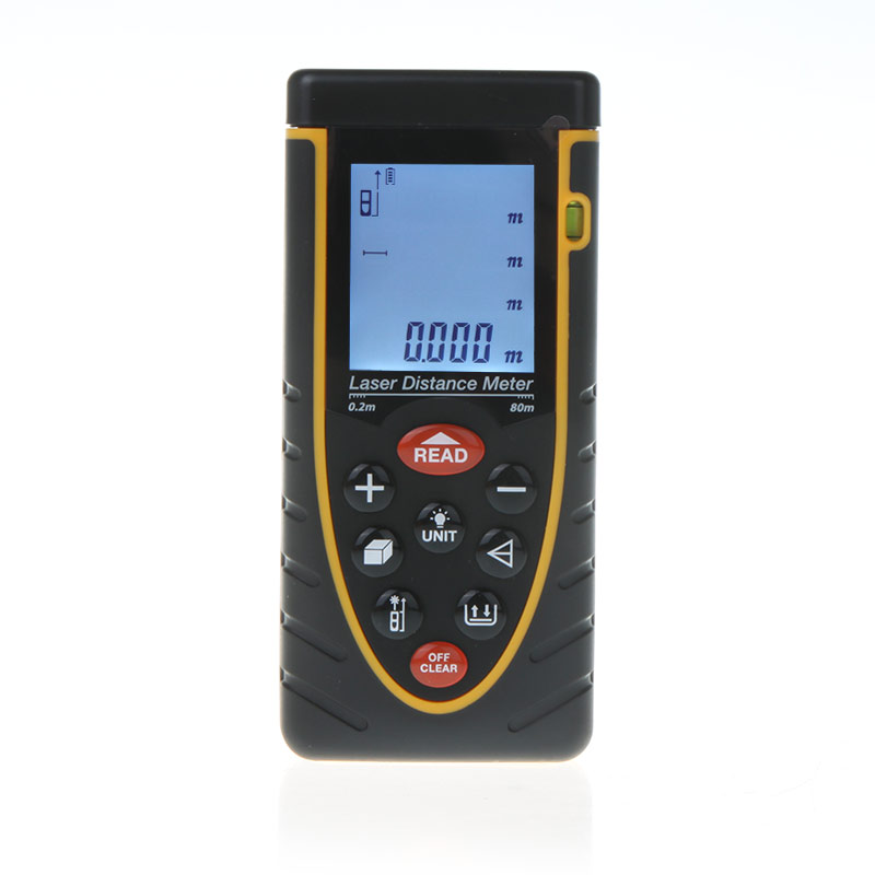 High Accuracy 80m/262ft Handheld Laser Distance Meter Laser Rangefinder with Bubble Level Tape Measure Accuracy 2mm dmiotech 262ft 80m mini handheld digital laser distance meter rangefinder red with tripod