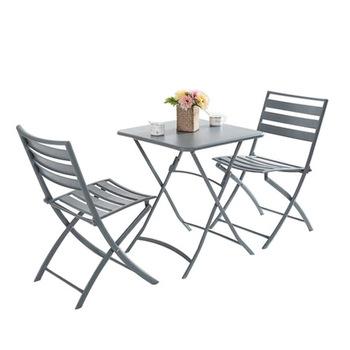 Zestaw ogrodowy meble ogrodowe składane meble ogrodowe meble ogrodowe muebles de jardin 1 stół + 2 krzesła 3 sztuk zestaw hot tanie i dobre opinie Ogród zestaw Nowoczesne Ecoz Metal iron