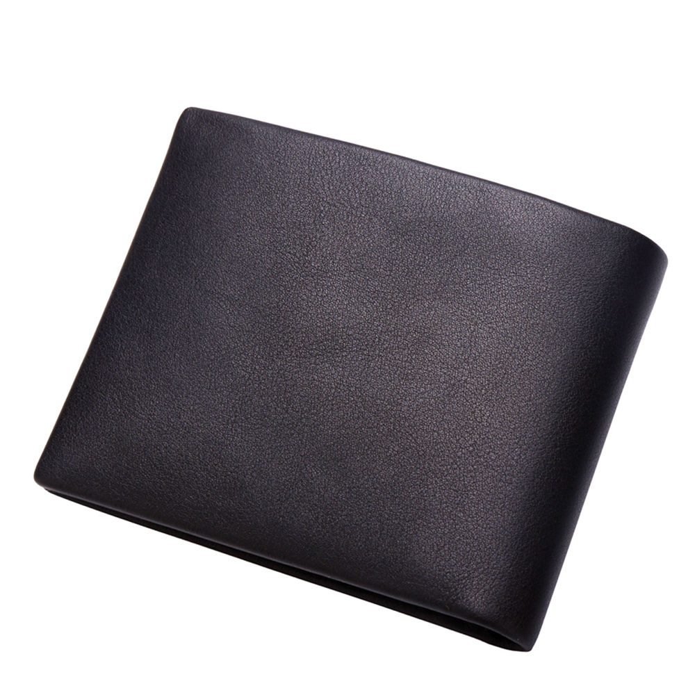 BISON DENIM Business Casual Wallet Män Top Layer Äkta Läder Purses - Plånböcker - Foto 2