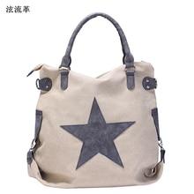 Vintage Large Star Handbag Fashion Designer Male Bag Men Canvas Travel Shoulder Bag Multifunction Tote Sac a main