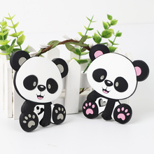 TYRY.HU 1pc Silicone Teethers Cartoon Panda Shape Food Grade Baby Teething Beads