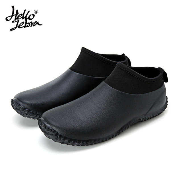 Men's Rain Boots / Car Wash Shoes / Fishing Shoe / Protective Shoes / Waterproof Boots / Black