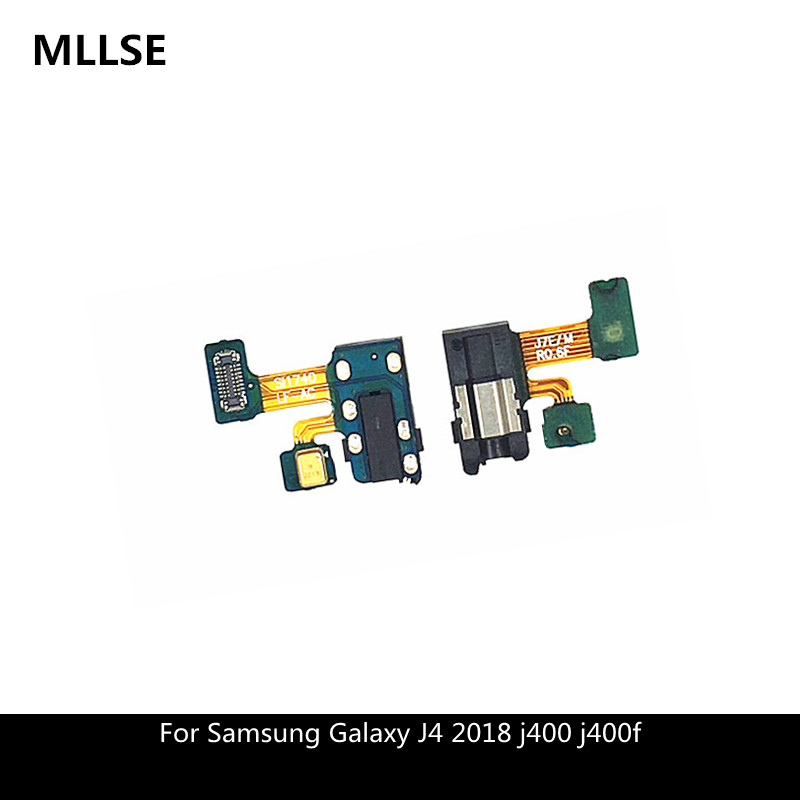 Earphone Jack Headphone Audio Microphone Flex Cable For Samsung Galaxy J4 2018 j400 j400f Audio jack Flex Replacement Parts-in Mobile Phone Flex Cables from Cellphones & Telecommunications