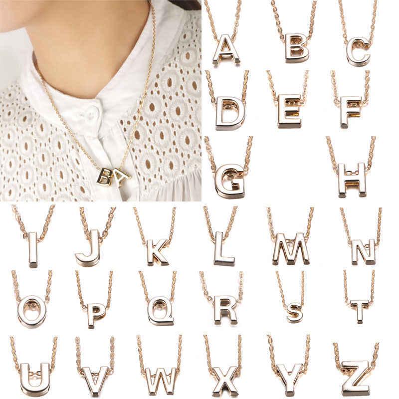 1 шт., модный стилист, женский подарок, Золотая тарелка, БУКВЕННОЕ имя, начальная цепь, ожерелье с буквами, хорошее украшение, Новинка