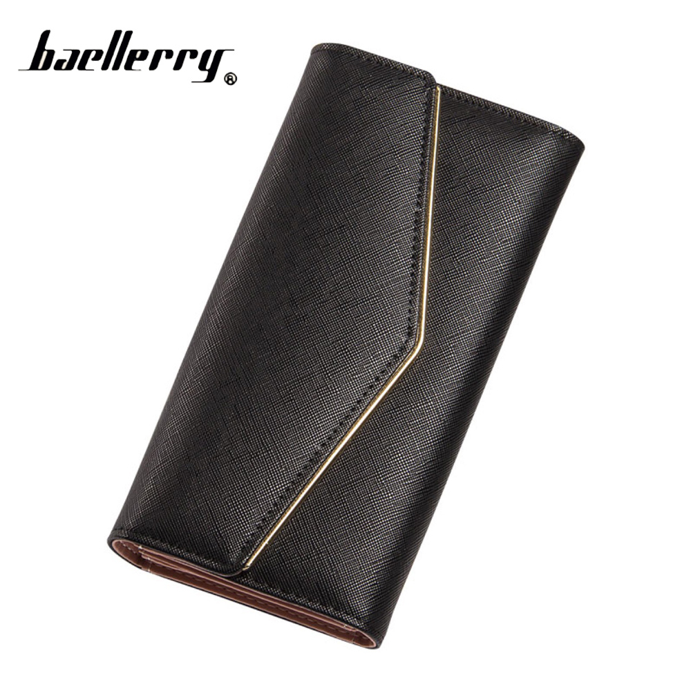 2016 Women PU Leather Wallets Ladies New High Quality Long 3 Fold Wallet Purses With Hasp Fashion Female Wallets Card Holder 2017 black pu leather wallet women stone grain wallets brand long design fashion coin purses for women with high quality qd018