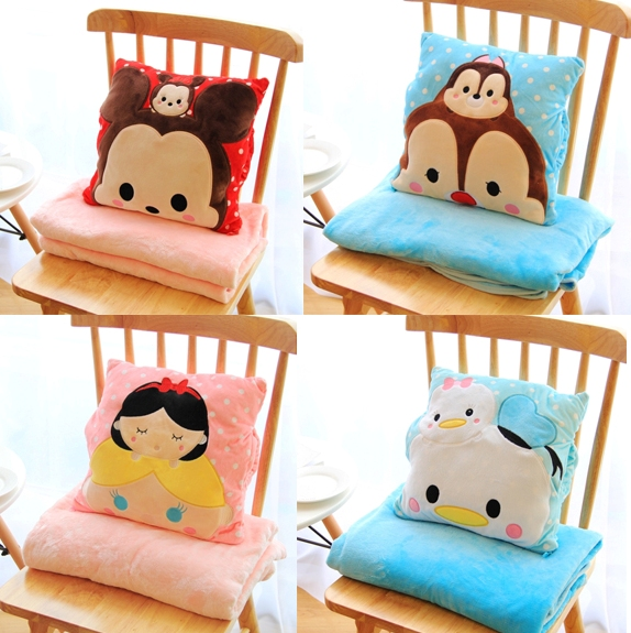 Plush 1pc 150cm soft sum Chipmunks princess Donald Duck rest office cushion + warm blanket stuffed toy romantic gift for baby раскладушка therm a rest therm a rest luxurylite mesh xl