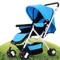 Venda quente de Verão Do Bebê Luz Carrinho De Criança Pode Sentar Pode Mentir à prova de choque Carrinho de Bebê de Alta Paisagem carrinho de Bebê Dobrável Carro Fácil Carry