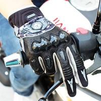 Carbon Motorcycle Gloves Motocross Motorbike ATV Off Road Protective Guantes Moto Bike Luvas Motociclista MX4210 Leather