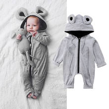 8f95520d4caa Newborn Infant Kids Baby Girl Baby Boy Clothes Frog 3D Ear Long Sleeve  Zipper Cotton Popular Romper Jumpsuit Outfits Clothes