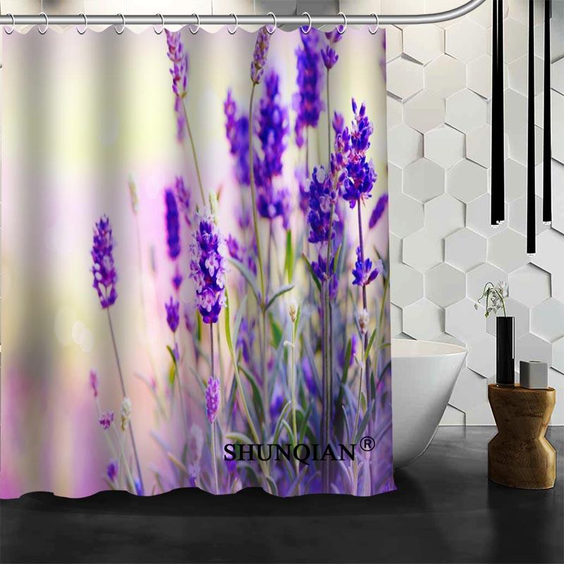 Best Nice Custom Lavender Shower Curtain Bath Curtain Waterproof Fabric Bathroom Curtain MORE SIZE A6.1-26