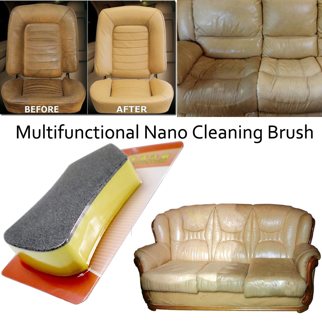 Car Wash Nano Felt Cleaning  Detailing Brush Washer Sponge Leather Seat Wiper Cleaner Vehicle Interior Cleaning Tool Polishing
