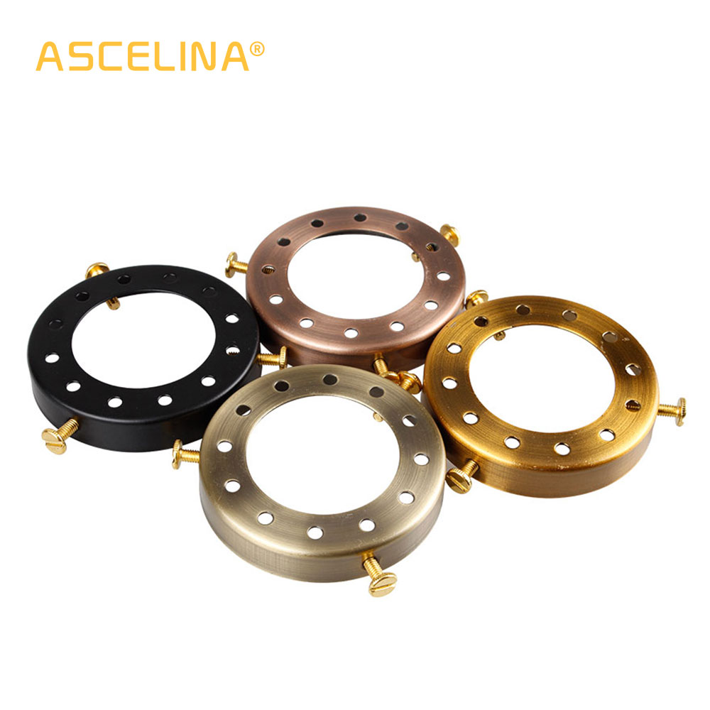 ASCELINA Solid Brass Lamp Holder Accessories For Chandeliers Edison Industrial Vintage Multihole Cap E27 Lamp Base Pendant Light