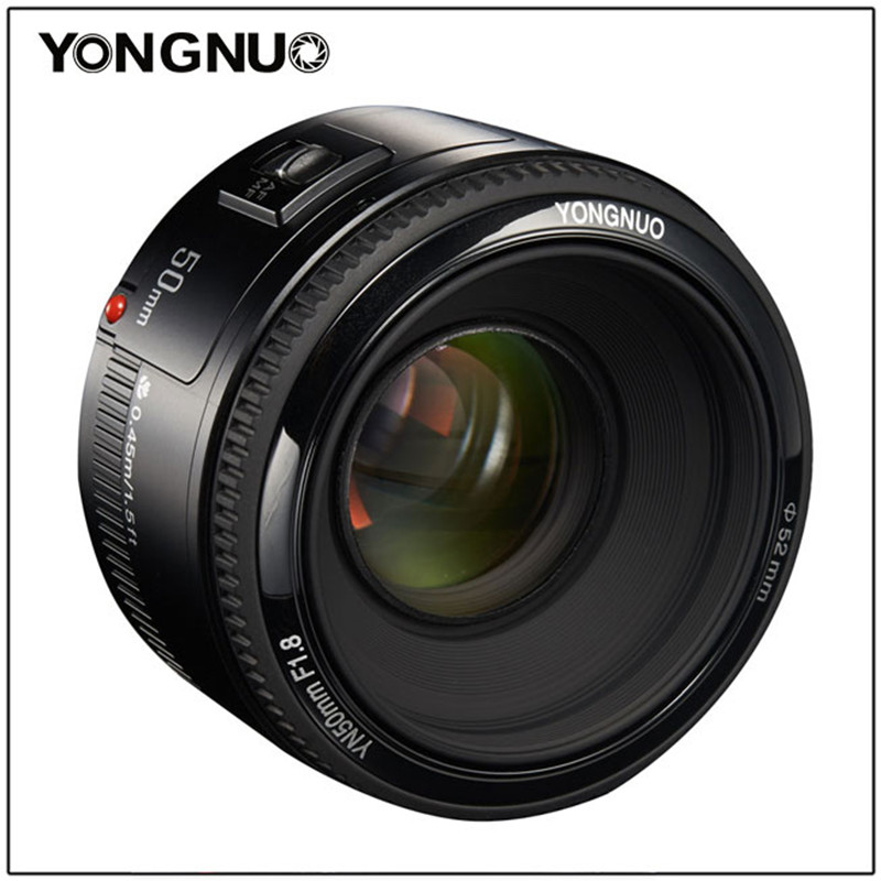 YONGNUO 50mm YN50MM F1 8 large aperture auto focus lens EF AF MF For Canon EOS