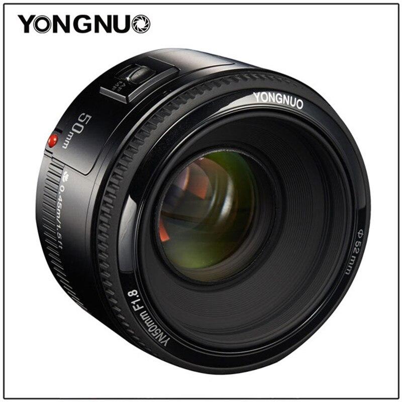 Objectif de mise au point automatique à grande ouverture YONGNUO 50mm YN50MM F1.8 EF AF/MF pour Canon EOS 600D 550D 70D 700D 750D 1100D 1200D 1300D 200D