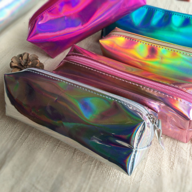 fd64a0d4b5fa US $4.8 |AEQUEEN Holographic Makeup Organizers Women Make up Cases Zipper  Hologram Laser Cosmetic Bag Storage Pouch Stationary Bag Lady-in Cosmetic  ...