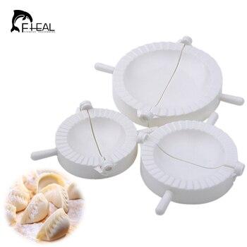 FHEAL 3pcs/set Dumpling Maker Ravioli Dough Press Pastry Dumpling Molds Empanada Mould Baking Tools Dumpling Making Machine