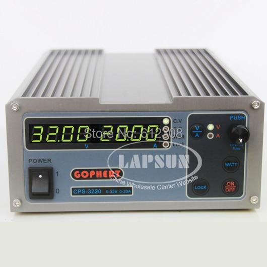 32V 20A Precision PFC Compact Adjustable Digital DC Power Supply OVP / OCP / OTP 220V 110V AC 0.01V 0.01A 3220 Factor Correction