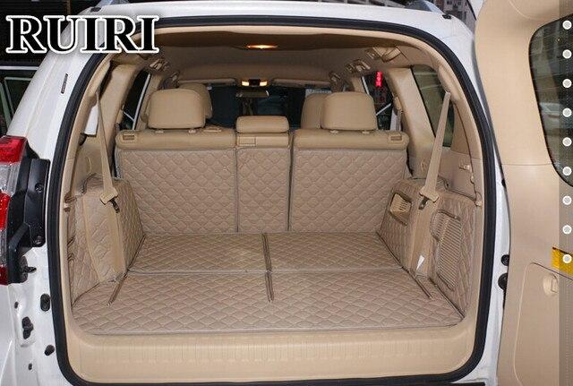 ¡Bien! Alfombrillas de maletero de coche especiales para Toyota Land Cruiser Prado 150 7 asientos 2019 alfombras de bota de forro de carga duraderas para Prado 2018-2010