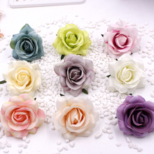 Artificial decorative Rose high quality flowers rose head silk flower for wedding home party decor simulation