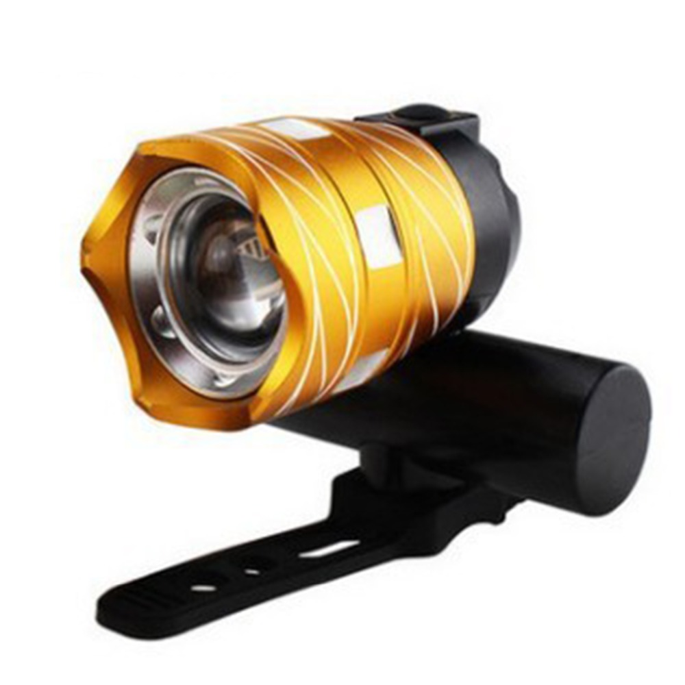 USB Rechargeable Bike Light Front Handlebar Cycling Led Battery Golden Flashlight Torch Headlight Bicycle Accessories Light