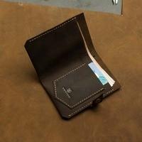 Vintage Hasp Open Genuine Leather Wallet High Large Capacity Unique Decor Crazy Horse Genuine Leather Man Wallet