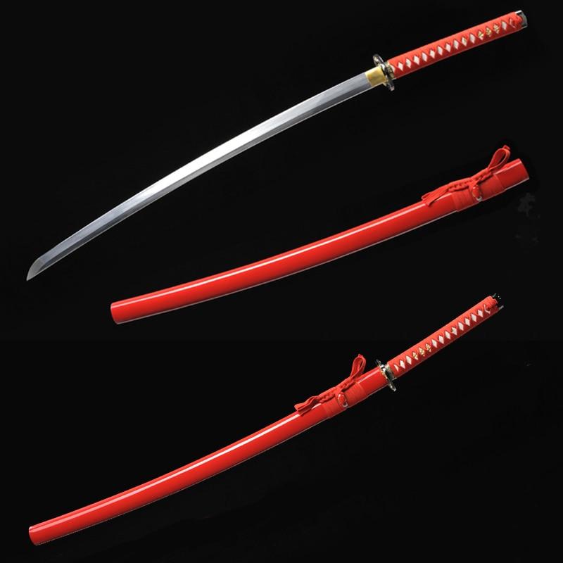 Ručně vyráběný katana samurajský japonský meč Dobrá houževnatost pravé katanské meče na prodej ostré katanské meče Ohýbání 30 stupňů