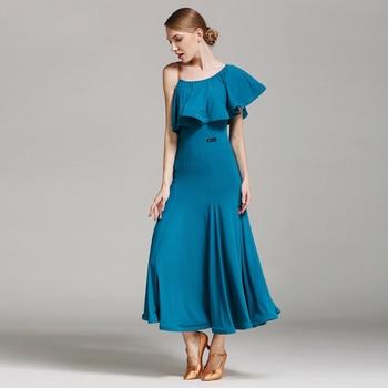 S9012 Modern Dance Costume Women Ladies Dancewear Waltzing Tango Dancing Dress Ballroom Costume Evening Party Dress