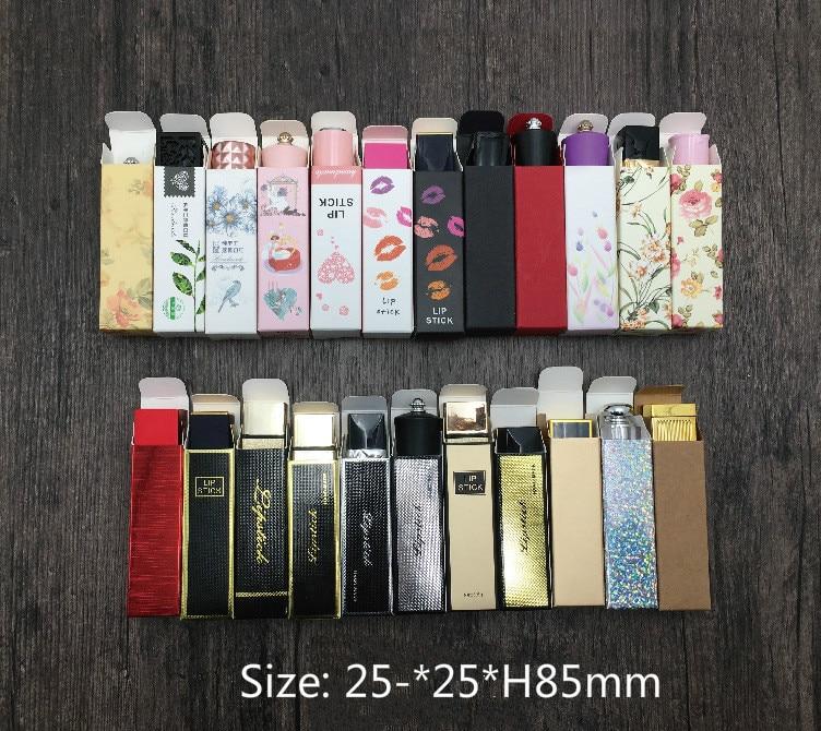 10 Pcs Paper Box Lip Gloss Box Lipstick Box,craft  Lipstick Tube Packing Box Size 25*25*85mm