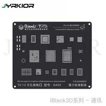 Jyrkior QianLi 3D Связь Baseband модуль завод оловянной сетки BGA черный Шаблон трафарет для iPhone 8 P/8/7/7 P/6 S/6/5S