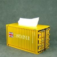 Creative Iron Container Model Tissue Box Decor Metal Napkin Case Houseware Everyday Necessity Utensil Craft Ornament Accessories