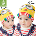 2016 Spring& Autumn Children Baby Boy Girl Hat Catoon Minions God Steal Dads Film  Baby Hat Warm Cotton Toddler Beanie Baby Cap