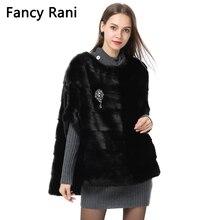 Настоящий Соболий мех Новая мода Женское пальто летучая мышь пуловер куртка осень зима короткая черная норковая шуба верхняя одежда пальто