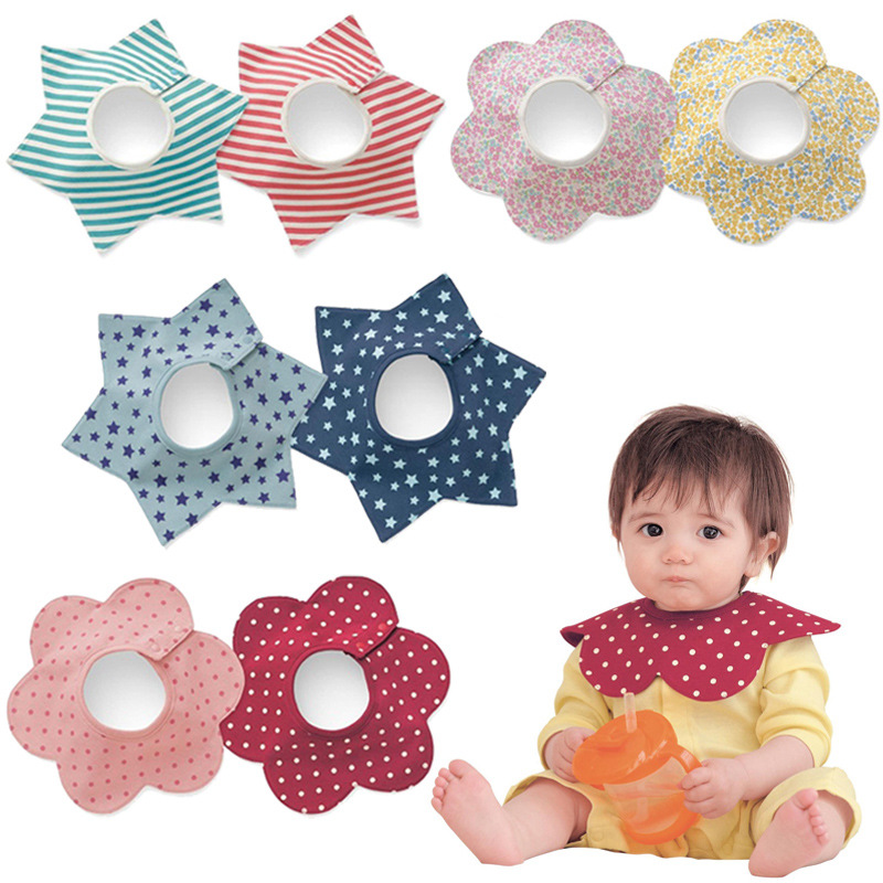 Designer Baby Feeding Fashion Baby Bibs Kawaii flower 360 degree care Bowknot Infantil Bavoir Newborn Baby burp cloths