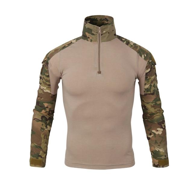 f56f7ea03 Hombres del ejército Gear camuflaje camiseta de los hombres al aire libre  militares Combat Tactical T Shirt fuerza militar Multicam Camo Camiseta  manga ...