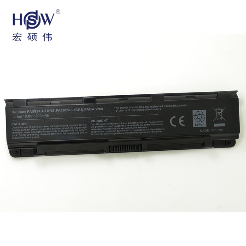 HSW laptop battery for TOSHIBA  Satellite Pro C800,C800D,C805,C805D,C840,C840D,C845,C845D,C850,C850D,C855,C855D,C870, bateria c