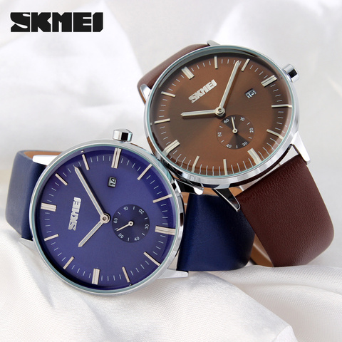 2017 Mens Watches Top Brand Luxury Quartz Watch Casual Leather Men Wrist Watch 30M Waterproof Date Male Clock Relogio Masculino Islamabad
