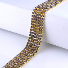 Rhinestones cup chain 10yards silver claw base flatback rhinestones sewing non hotfix for clothes