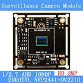 2MP1920*1080 AHD CCTV 1080P Camera Module Circuit Board , 1/2.7 CMOS NVP2441+OV2710 2000TVL PCB Board PAL / NTSC Optional