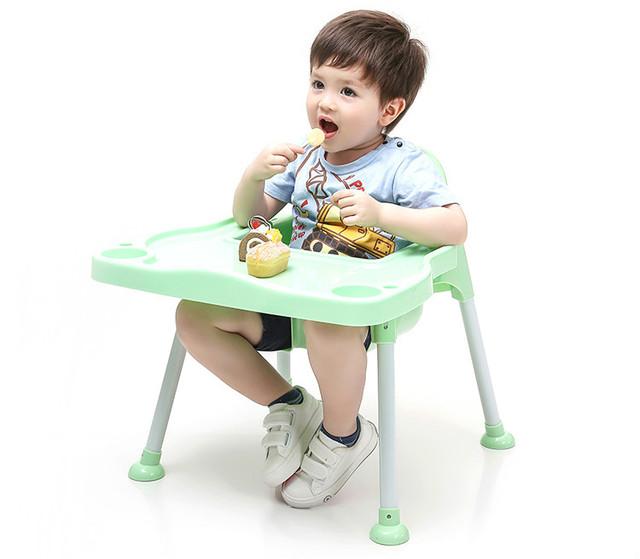 Honeies Infantil cadeira de jantar do bebê comer cadeira de segurança assento regulável em altura