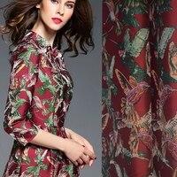 Горячая Распродажа европейской и американской моды Импорт товары для птиц жаккардовая ткань платье пальто tissu au метр Яркая Ткань DIY