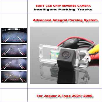 Intelligentized Rückfahrkamera Für Jaguar X-type 2001 ~ 2009 Rückansicht Back Up/580 Tv-linien Dynamische führung Tracks