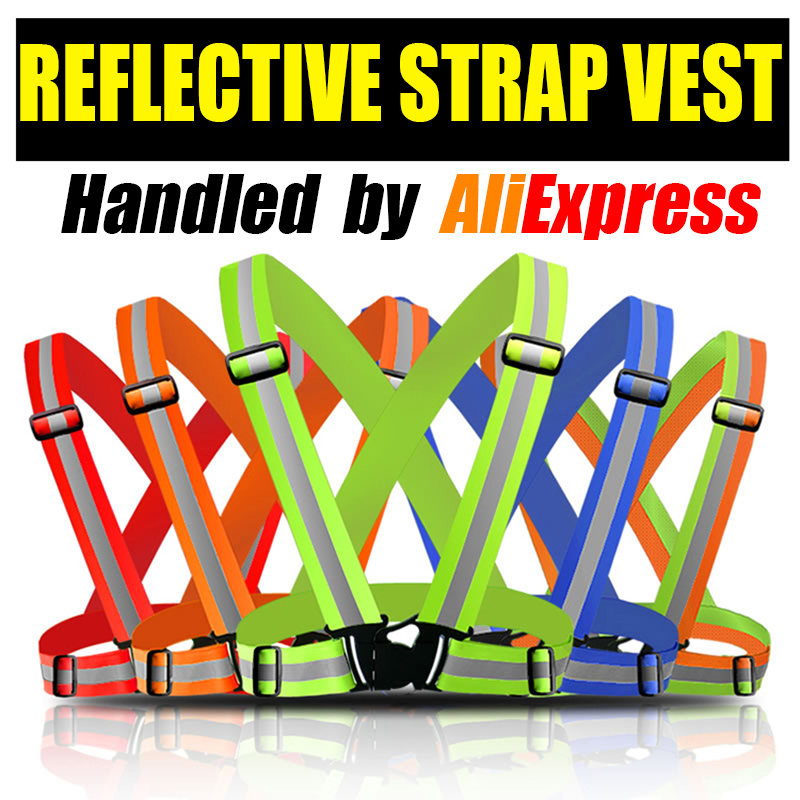 High Reflective Safety Vest belt high visibility Security Reflective elasticated Strips waistcoat belt for bicycle jog running high quality safe reflective vest belt for women girls night running jogging biking