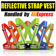High Reflective Safety Vest belt high visibility Security Reflective elasticated Strips waistcoat belt for bicycle jog running